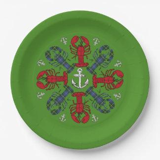 Lobster Snowflake Anchor N.S. Christmas plate