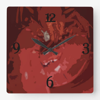 Lobster Square Wall Clock