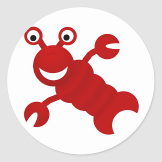 lobster round stickers