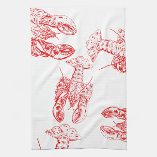 Lobster tails and claws kitchen towel