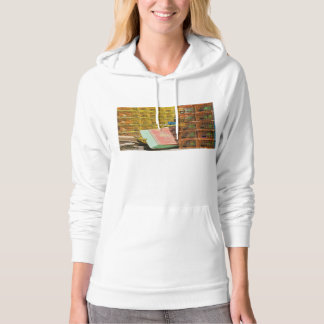 Lobster Traps And Small Boat On Coast of Maine Hoodie