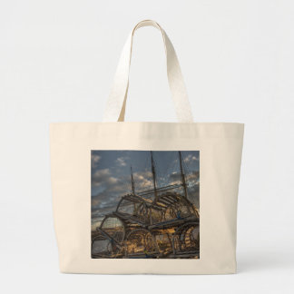 Lobster Traps and Tall Ship Masts Tote Bags