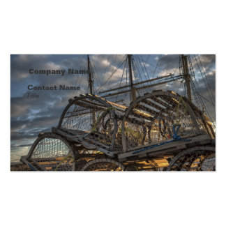 Lobster Traps and Tall Ship Masts Business Card
