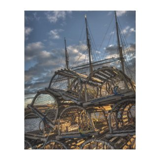 Lobster Traps and Tall Ship Masts zazzle_wrappedcanvas