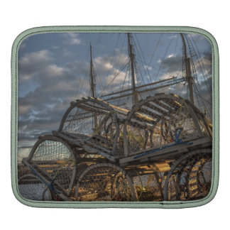 Lobster Traps and Tall Ship Masts Sleeve For iPads
