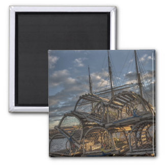 Lobster Traps and Tall Ship Masts Refrigerator Magnets