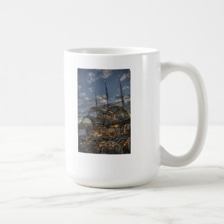Lobster Traps and Tall Ship Masts Mugs