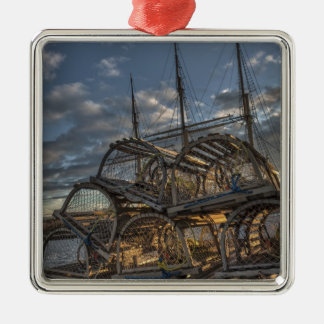 Lobster Traps and Tall Ship Masts Ornament