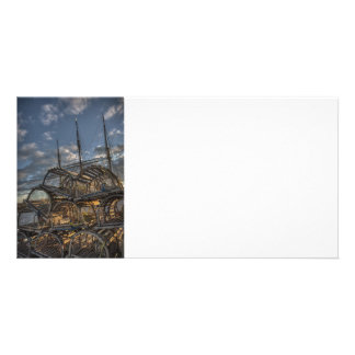 Lobster Traps and Tall Ship Masts Photo Cards