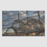 Lobster Traps and Tall Ship Masts Rectangular Sticker