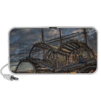 Lobster Traps and Tall Ship Masts iPhone Speaker