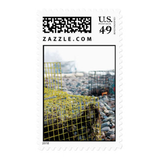 Lobster Traps on Beach Stamps