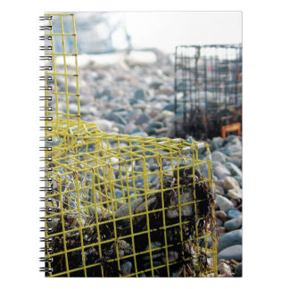 Lobster Traps on Rocky Beach Notebook
