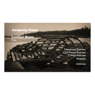 Lobster Traps Sepia Business Card