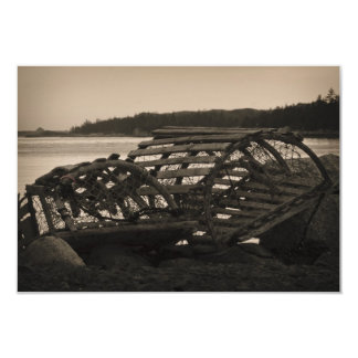 Lobster Traps Sepia Card