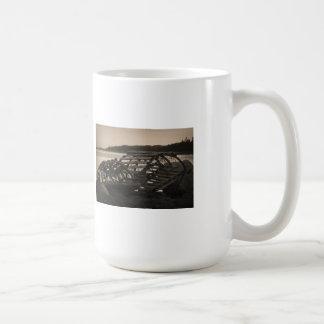 Lobster Traps Sepia Coffee Mug
