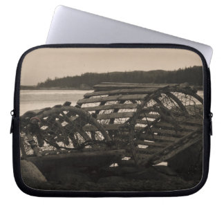 Lobster Traps Sepia Computer Sleeve