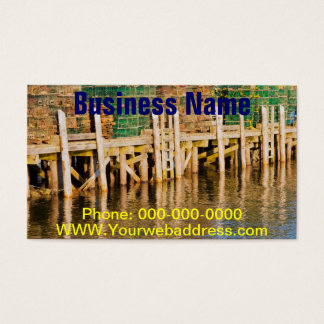 Lobster Traps stacked On Pier On Coast Of Maine Business Card
