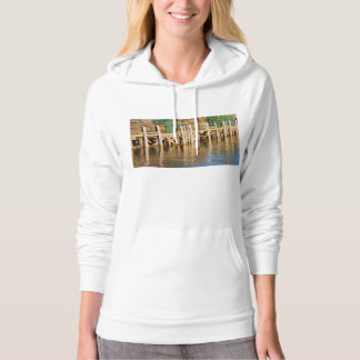 Lobster Traps stacked On Pier On Coast Of Maine Hooded Sweatshirts
