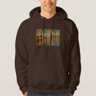 Lobster Traps stacked On Pier On Coast Of Maine Hoodie