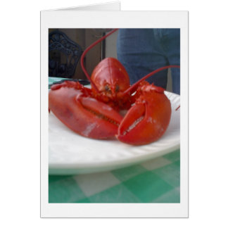 LOBSTER WALKS INTO A RESTURANT ALL OCCASION CARD