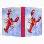 Lobster Watercolor Binder