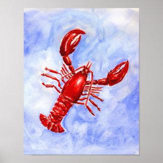 Lobster Watercolor Print