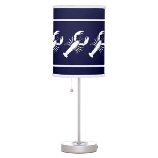 LOBSTER White on blue Table Lamp