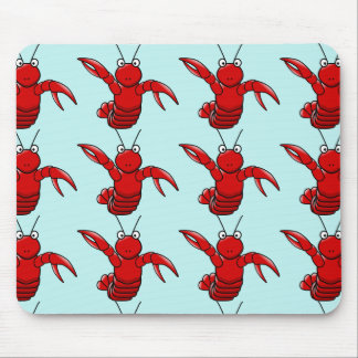 lobster  with blue sea background mouse pad