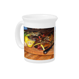 Lobster with vegetables pitcher