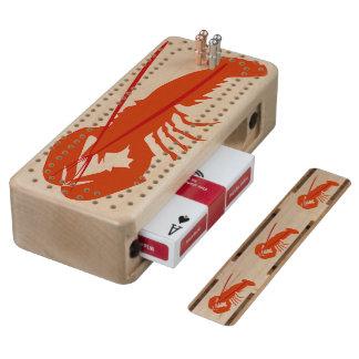 Lobster Wood Cribbage Board