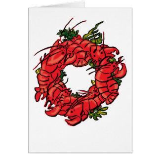 lobster wreath card
