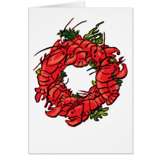 lobster wreath greeting card