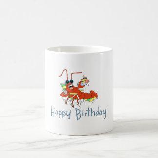 Lobster's birthday wish coffee mug
