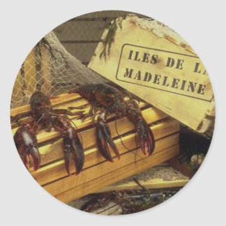 Lobsters Classic Round Sticker