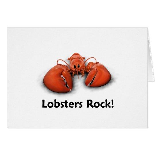 Lobsters Rock! Card