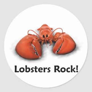 Lobsters Rock! Classic Round Sticker