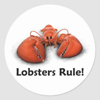 Lobsters Rule! Classic Round Sticker
