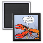 Lobsters with Bling Magnet