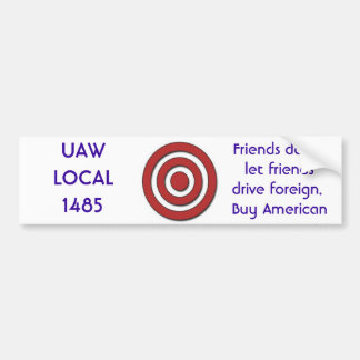 local 1485 del uaw pegatina para auto