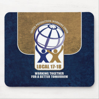 local 17-18 monogram background mouse pad