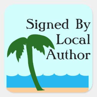 Local Author Autographed Palm Promo Square Sticker