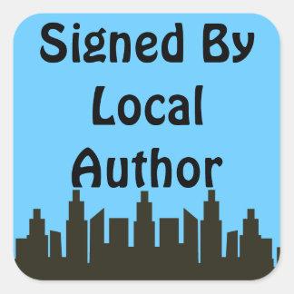 Local Author Autographed Skyline Promo Square Sticker