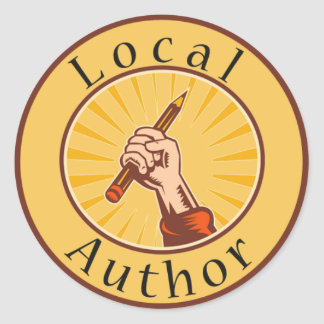 Local Author Round Book Cover Sticker