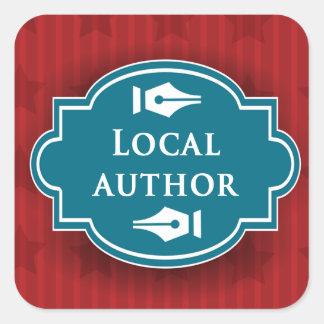Local Author Square Book Cover Sticker