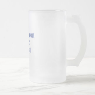 Local Chef Frosted Glass Beer Mug