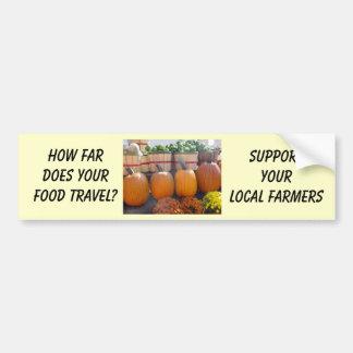 Local Farmers Bumper Sticker