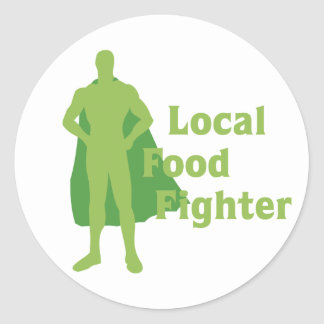 Local Food Fighter Classic Round Sticker