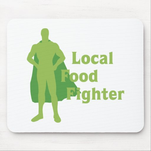 Local Food Fighter Mouse Mats