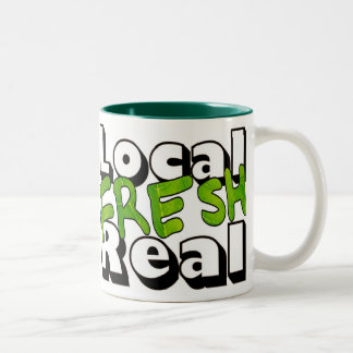 Local Fresh Real Two-Tone Coffee Mug